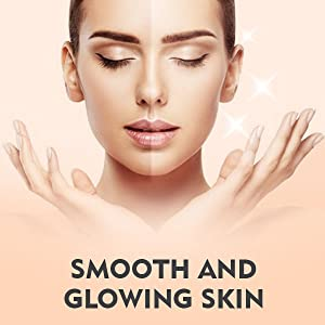 smooth and glowing skin