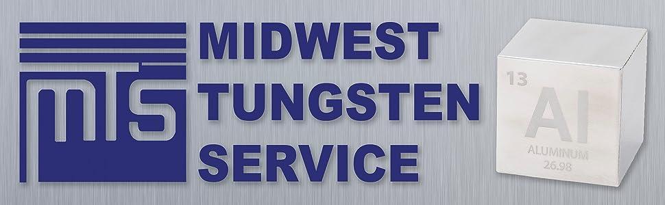 aluminum logo midwest tungsten service tungston metal density fidget cube desk gift science teacher
