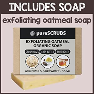 pureSCRUBS Organic Exfoliating Bar Soap Included
