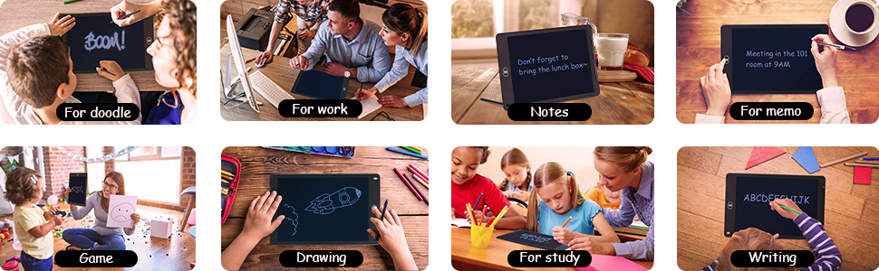 12 inch lcd writing tablet for kid