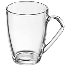 clear glass coffee mug