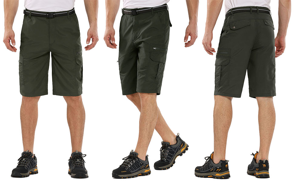 Shorts for Men Hiking Casual Quick Dry, Lightweight Tatical with Pockets Zipper Pockets,Camping
