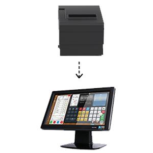 printer driven cash drawer