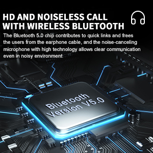 bluetooth 5.0 chip of the bluetooth headsets