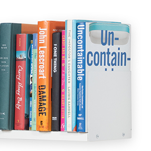white u shape wall shelf CD DVD Book storage and display living room