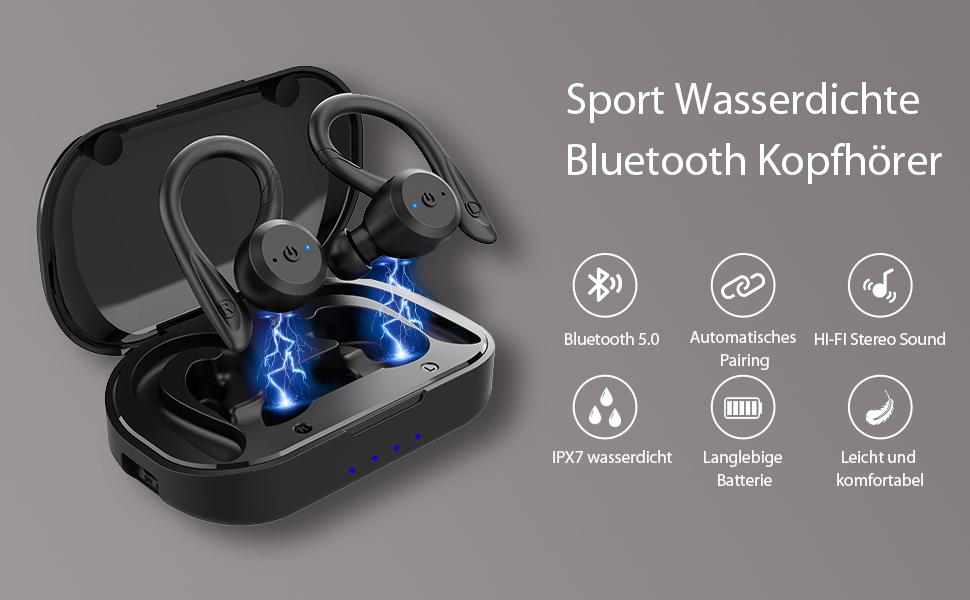 Sport Wasserdichte Bluetooth Kopfhörer