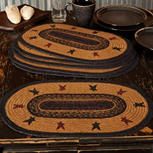 Heritage Farms Placemat primitive country rustic Americana VHC Brands braided jute kitchen tabletop