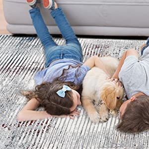 kid and pet friend area rug
