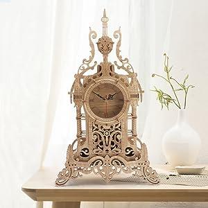 3d wooden puzzle clock
