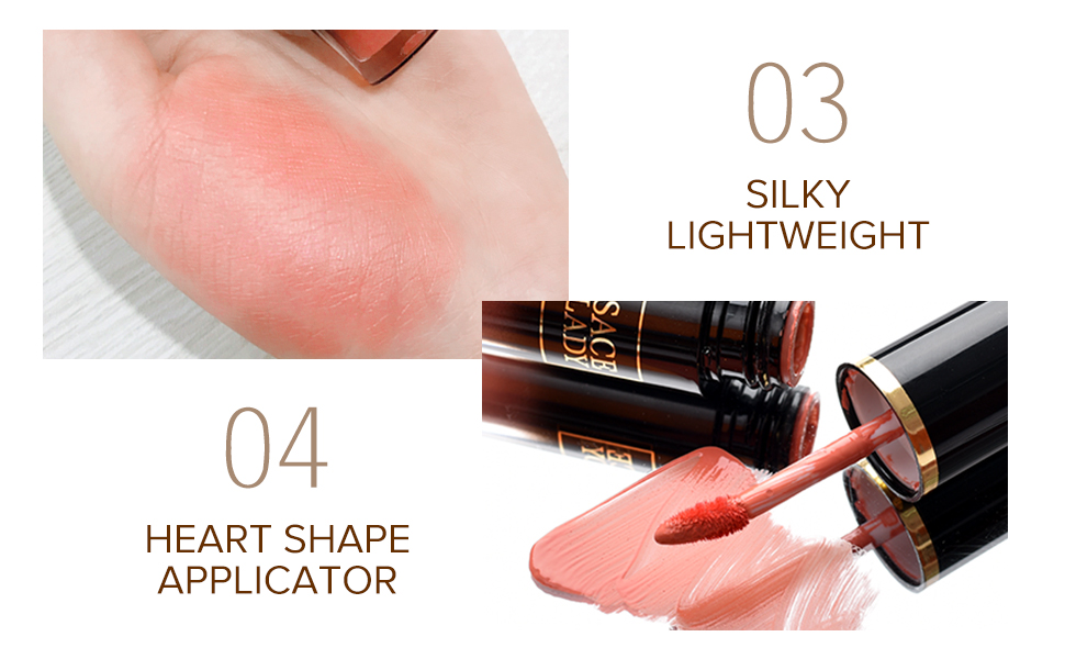 high pigmented face cheek blusher cream