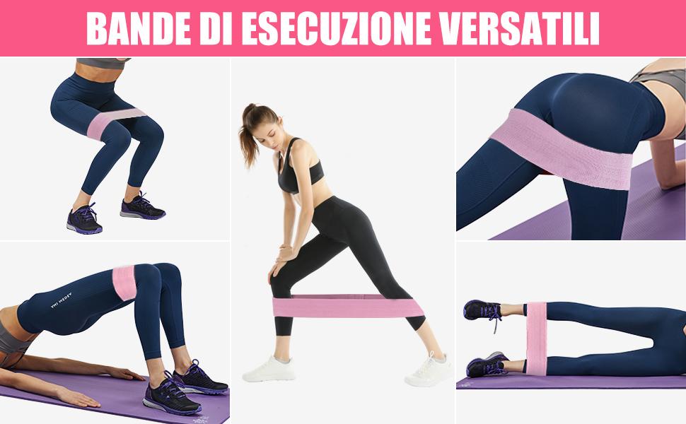 Cafele Fitness Bande Loop antiscivolo bande di resistenza all/'anca Allenamento Fitness Cintura