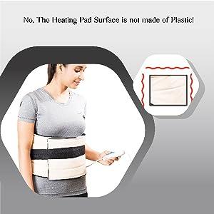 no plastic heating pad