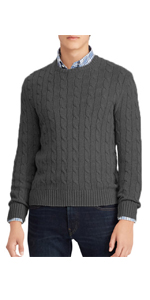 Men's Cable Knit Sweaters