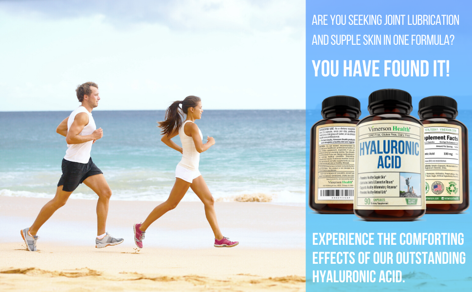 Hyaluronic Acid Supplement Vimerson Health Man Woman Jogging