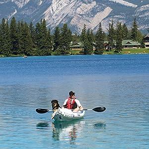 Inflatable kayak, tandem kayak, solo kayak, Sea Eagle, 330, Sport Kayak