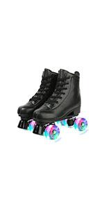 Black Flash Roller Skates