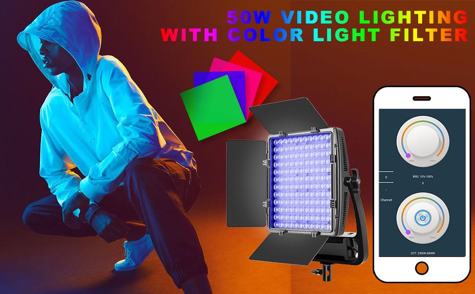 Led light for video