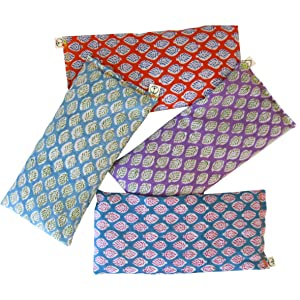 Peacegoods Leaf Eye Pillows lavender cotton yoga massage relaxation natural wholesdale usa made