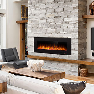 Antarctic Star 36 Inch Electric Fireplace in-Wall Recessed and Wall Mounted, 750/1500 Fireplace Heater and Linear Fireplace with Multicolor ...