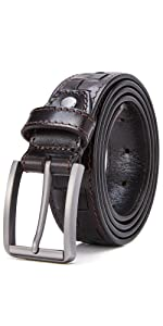 Weave Checkered Leather Belt