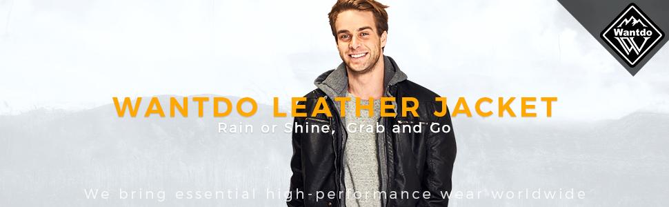 Wantdo men's faux leather jacket