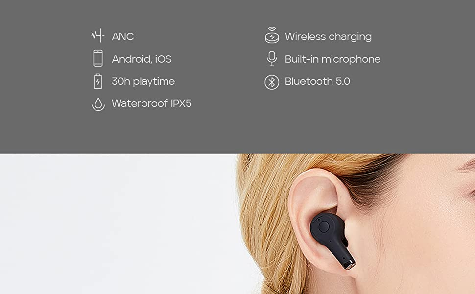 Sudio Ett True Wireless Bluetooth Earbuds with Active Noise Cancelling