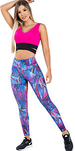 Colombian Women High Waisted Tummy Control Yoga Workout Push Up Anti Cellulite Leggings Colorful