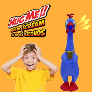 Animolds Giant Rubber Screaming Chicken Funny Gag Toy Pranks for Kids and Adults