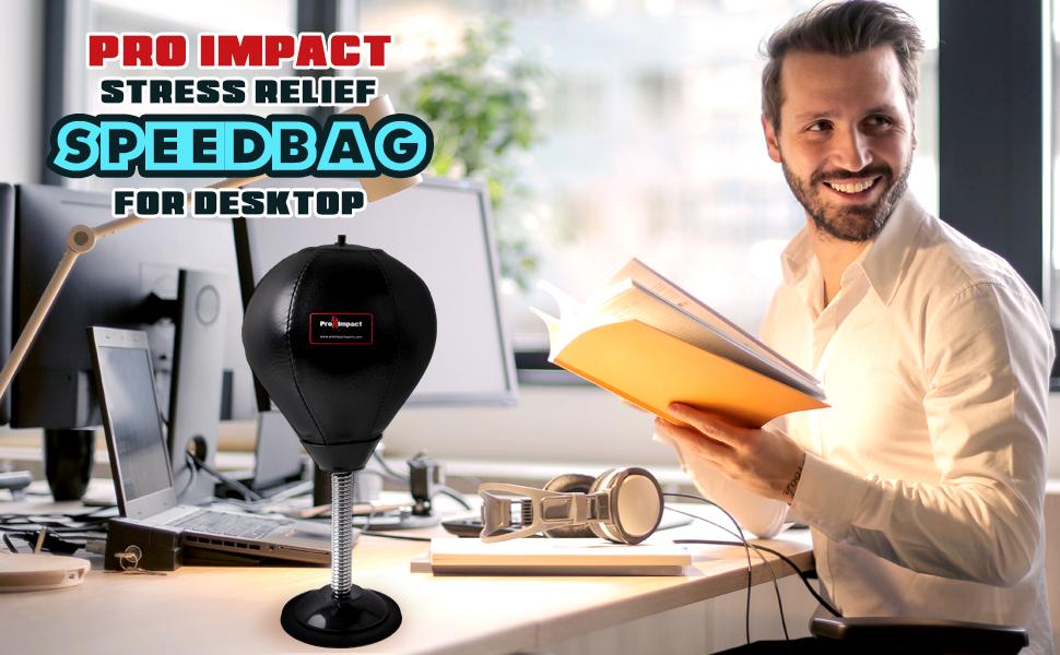PU Desktop Punching Striking Bag Pro Impact Speed Bag Heavy Duty Leather Han