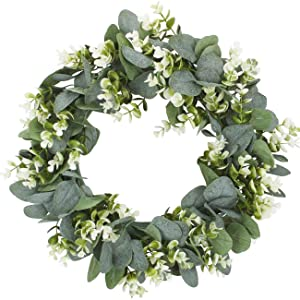 Eucalyptus Wreath with Green Leaves Flowers
