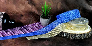 Faux Diamond Bling Wrap Faux Rhinestone Crystal Mesh Ribbon Roll for Wedding Party Centerpiece Cake