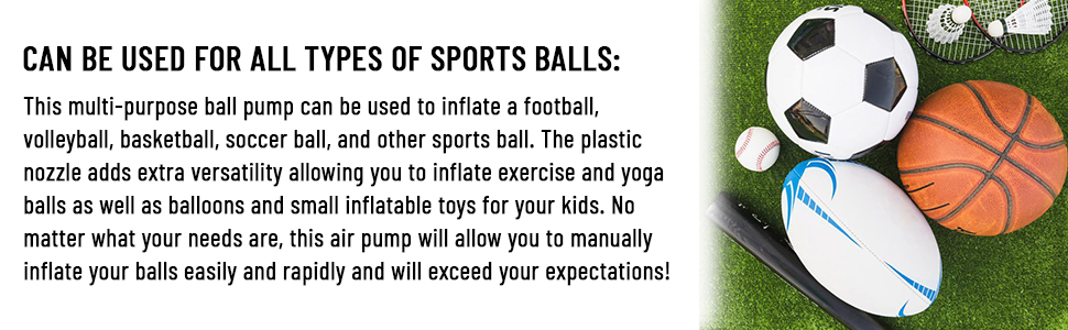 can be used all types of sports ball football rugby basketball soccer volleyball