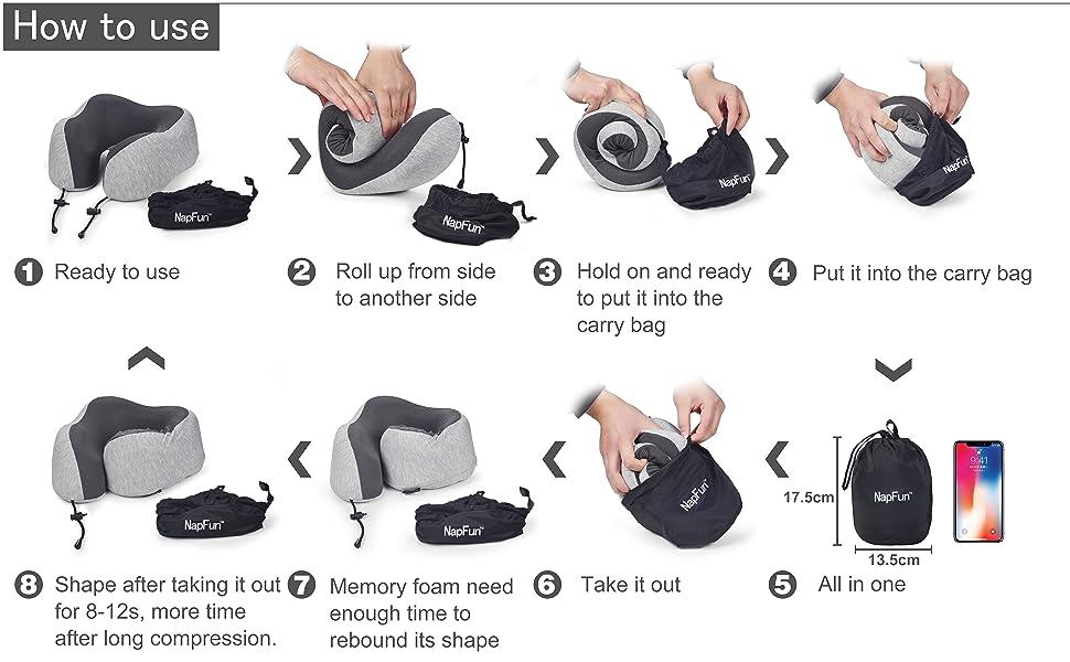 How to use Napfun travel pillow