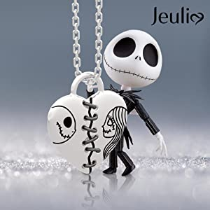 Jeulia jack and sally neckalce 925 sterling silver pendant necklace romantic jewelry gift