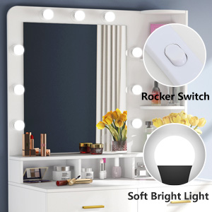 Large Mirror with Lights