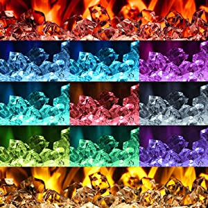 multicolor LED electric fireplace