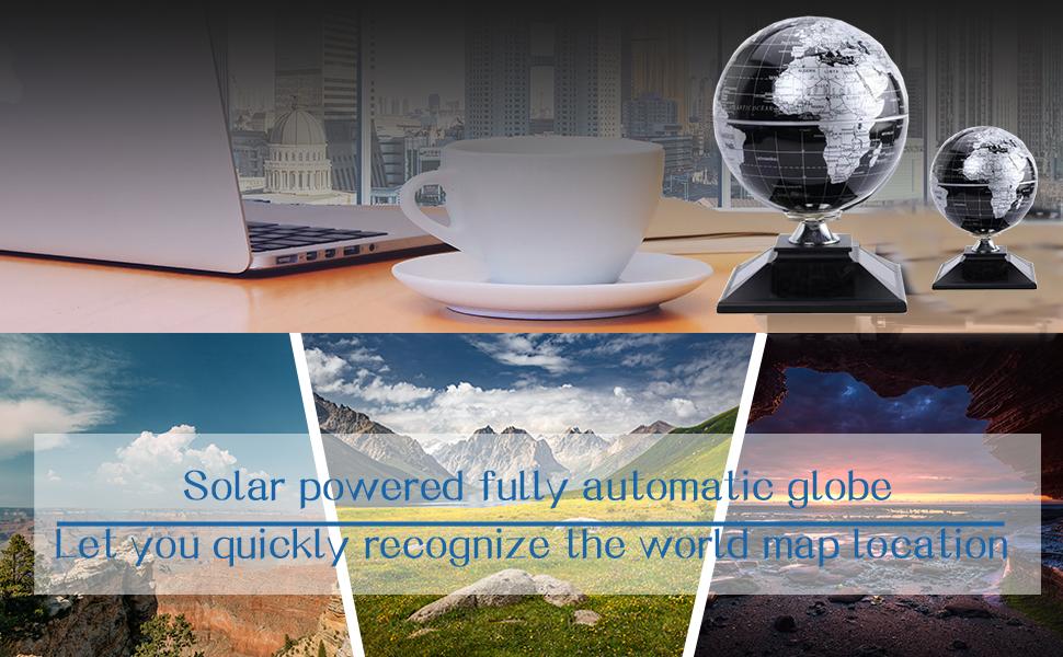 Black Silver Solar Globe