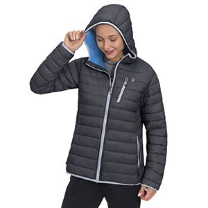 womens warm puffer jacket with hood