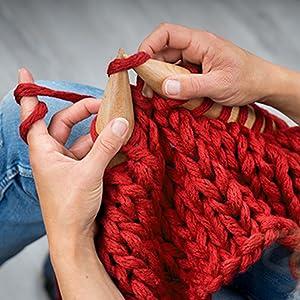 Gorro de punto de lana merino para hombre y mujer.