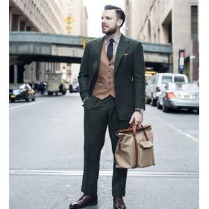 mens suit vest khaki