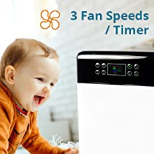 3 speed air purifier for large room