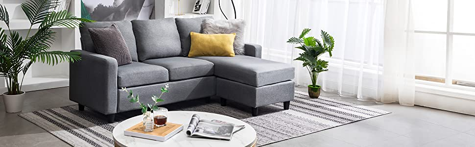 Convertible Sectional Sofa Couch