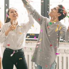 fun celebration friends confetti