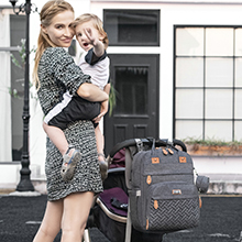 diaper bag backpack, nappy changing bag backpack - Diaper Bag Backpack, BabbleRoo Baby Nappy Changing Bags Multifunction Waterproof Travel Back Pack With Changing Pad & Stroller Straps & Pacifier Case, Unisex And Stylish (Dark Gray)