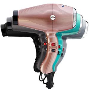 GAMMAPIU' Asciugacapelli Professionale Aria Dual Ionic Nero Grafite, Generatore Ionico, Phon Capelli, Leggero, Silenzioso e Potente, Fon Tecnologia