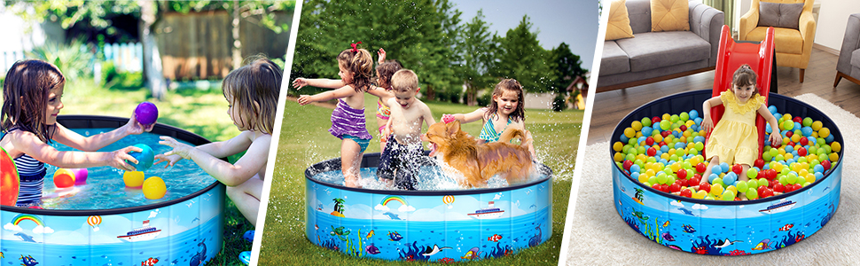 pet swimming pool for dogs and kids
