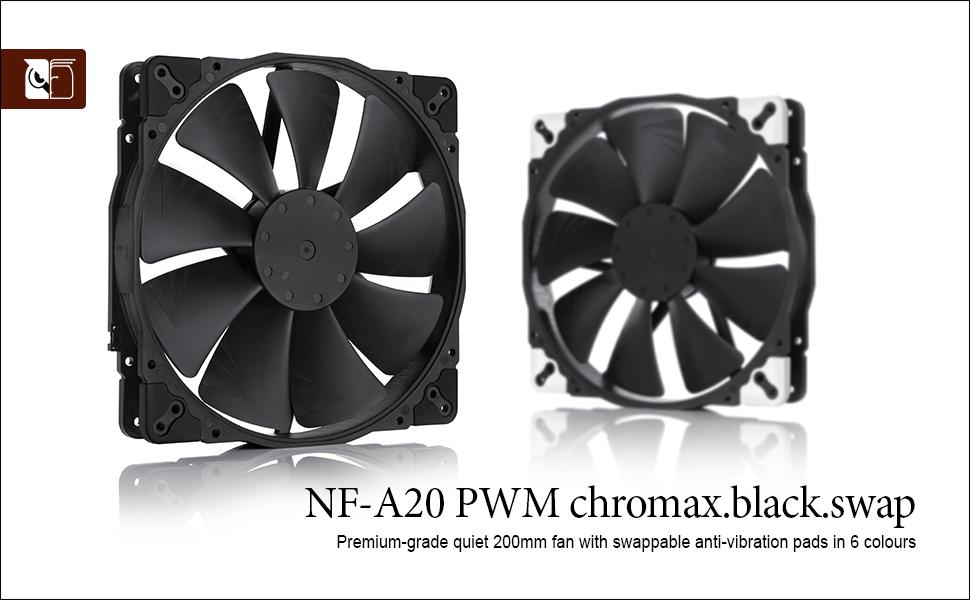 Noctua NF-A20-PWM ed.chromax.Black.Swap Ventola da 200mm PWM