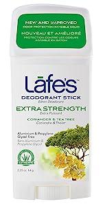 Lafe's extra strength deodorant stick