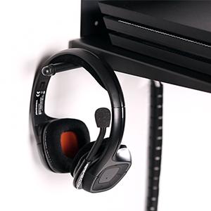 Borangame Soporte de Pared para Playstation 4 Normal / PS4 Pro / PS4 Slim Y Xbox 360 / One/One S/One X - Base Horizontal, Metálico con Ventilador Silencioso y Soporte para Mandos