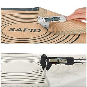 silicon dough mat